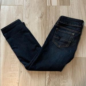 American Eagle Artist Crop Dark Wash Jeans